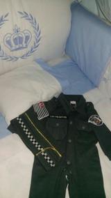 Macacão E Casquete, Bebê Farda Infantil Da Polícia Sp