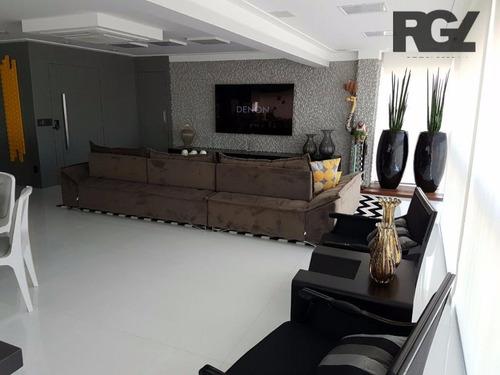 Imagem 1 de 30 de Apartamento Com 3 Dormitórios Para Alugar, 171 M² Por R$ 13.000,00/mês - Embaré - Santos/sp - Ap2278