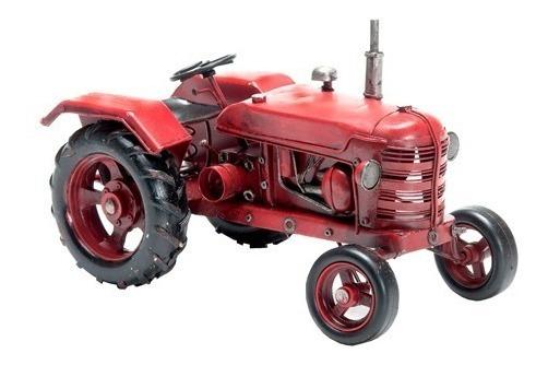 Tractor Rojo Granja En Miniatura Coleccionable