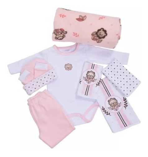 Baby Kit Colibri Jungle Rosa 8pçs