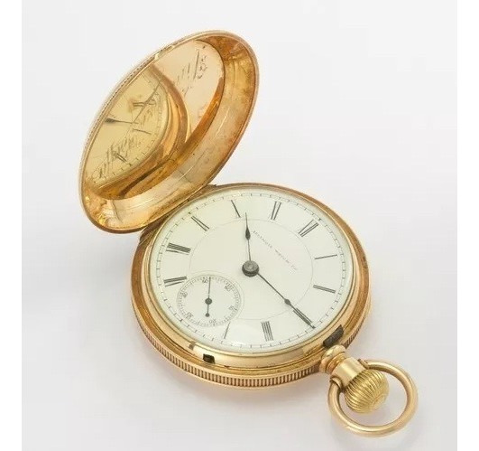 Relógio De Bolso Illinois Watch Co Em Ouro 14k