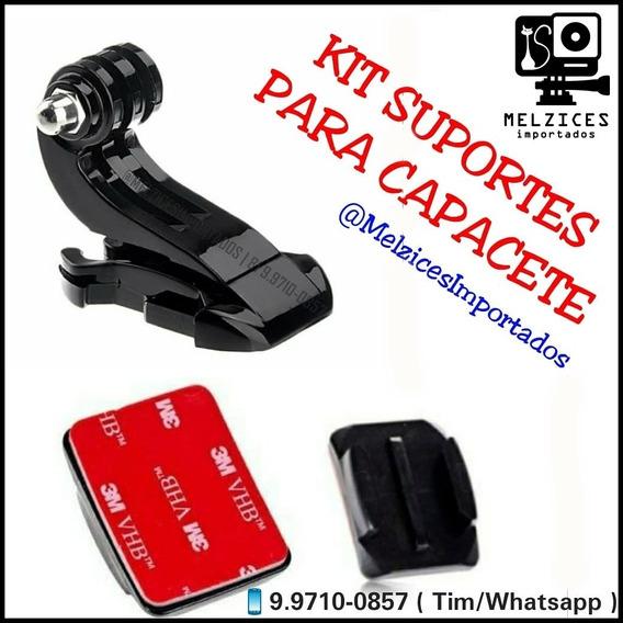 Kit Capacete Para Gopro E Similares (fiveja J + Base Com 3m)