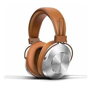 Pioneer - Audífonos Con Cubierta De Aluminio Con Piel Marró