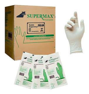Luva Latex Esteril Cirurgica Com Pó Cx C/50 Pares - Supermax