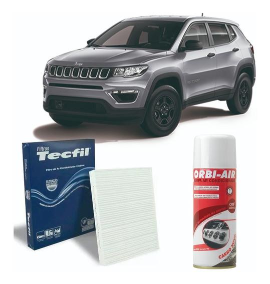 Filtro Ar Condicionado + Higienizador Jeep Compass 2.0 Todos