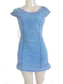 Moda Evangélica Vestido Jeans Com Elastano Roupas Feminina