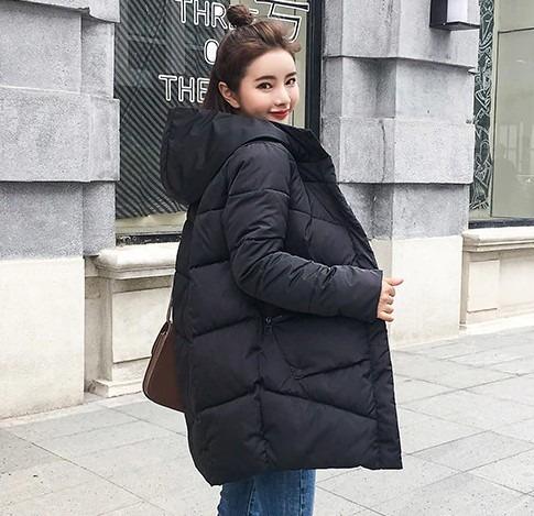 Chamarra De Mujer Moda Abrigo Chaqueta De Algodón Grueso Neg