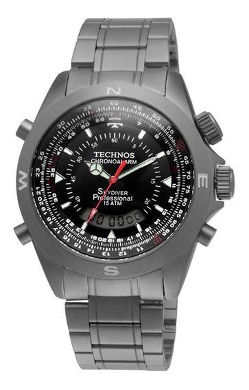 Relógio Technos Masculino Skydiver Pilot T20563/1p Titanio