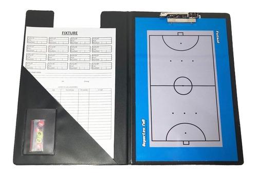Pizarra Futsal Magnetica! Carpeta + Pizarra Doble + Fibron..