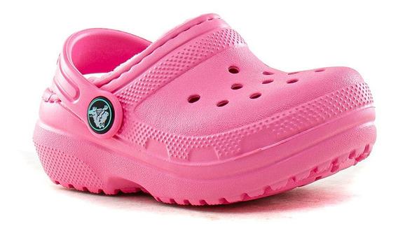 Zuecos Classic Lined Clog Kids Crocs Fluid Tienda Oficial