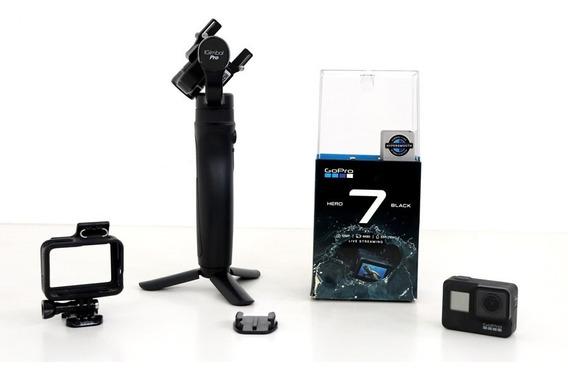 Câmera Gopro Hero 7 Black+bat+iguimbalpro+cartão Class1064gb