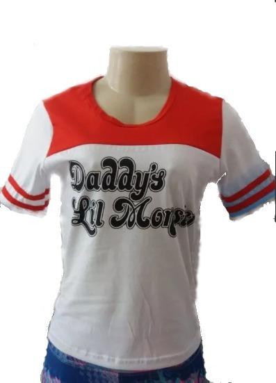 Kit 3 / Camiseta + Colar Puddin + Cinto Luxo Arlequina