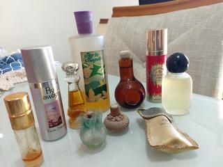 9 Frascos De Perfume Antigo Conforme Descrição Alguns Cheios