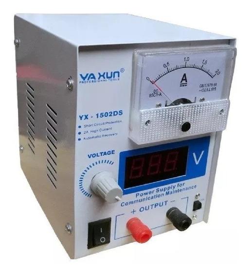 Fonte De Bancada Yaxun 1502 Ds 0a15 Volts 2 Ampers