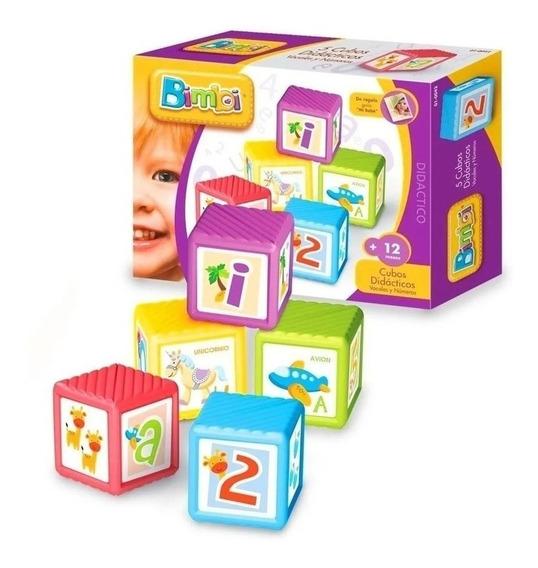 Bimbi Cubos Didacticos Apilables Vocales Y Numeros 01-0042