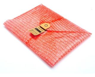 Sobre Postal A4 Rojo Carpeta Porta Cuero Plastico Reciclado