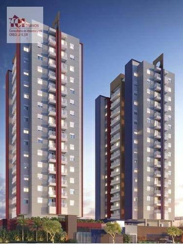 Apartamento Com 2 Dormitórios À Venda, 50 M² Por R$ 308.000,00 - Vila Pires - Santo André/sp - Ap1949