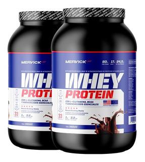 Whey Protein X 2 Kg Mervick Lab Nueva Fórmula Promo