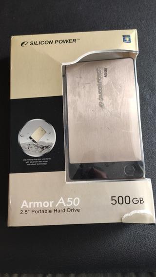 Hd Externo 500gb - Silicon Power - Armor A50 - 2.5