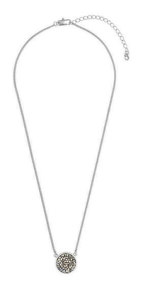 Crystal Fine Rocks Swarovski Necklace - Cor Prata