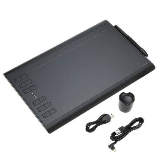 Tablet De Dibujo Huion 1060plus Con Tarjeta De Memoria De 8g