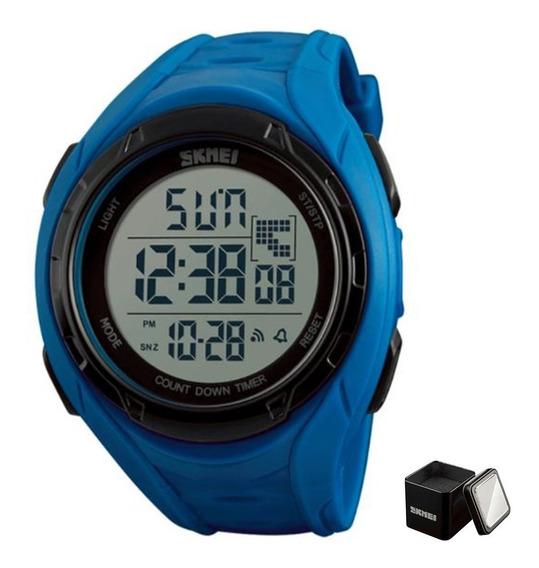 Reloj Skmei 1313 + Estuche Deportivo Sumergible Hombre Digit