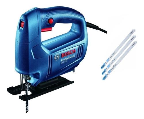 Sierra Caladora Bosch Gst 650 450w Vv + Hojas Bosch T 318 Af