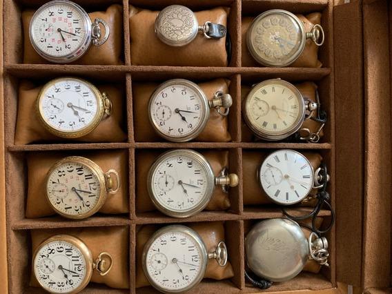 Coleccion De 12 Relojes Antiguos De Bolsillo