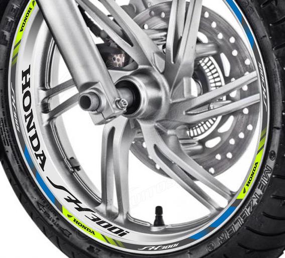 Friso + Adesivo Interno Refletivo D2 Roda Moto Honda Sh 300i