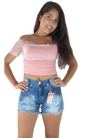 Kit 10 Shorts Jeans Feminino Com Lycra 36 Ao 44 Atacado