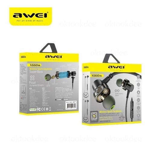 Fone Headset Bluetooth Awei X660bl Wirelles Dual Driver