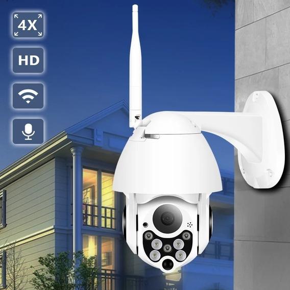 Câmera De Segurança Conexão Wifi, Giratória, Cartão Sd 64 Gb