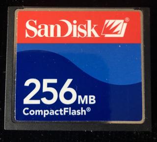 Compactflash Sandisk 256 Mb.