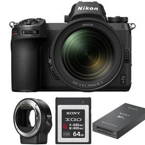 Nikon Z7 24-70mm Adapt Xqd 64gb Leitor Xqd Garantia 3 Anos