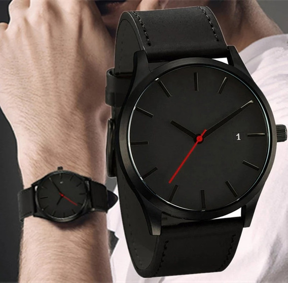 Reloj Para Hombre Caballero De Mano Negro Perfecto Regalo