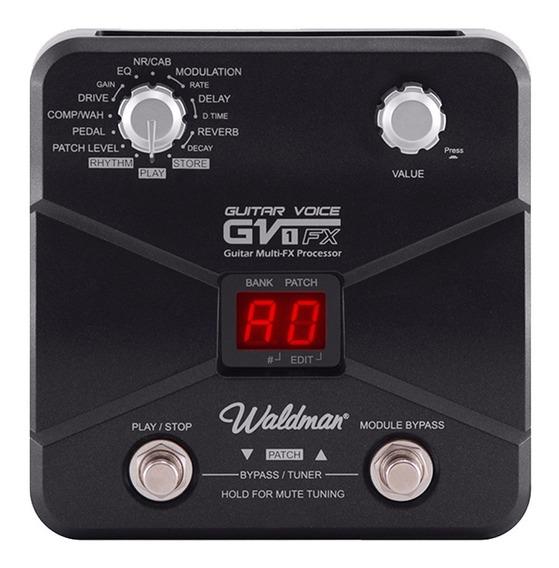 Pedaleira Multi-efeitos Para Guitarra Waldman - Gv-1fx