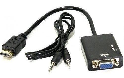 Adaptador Conversor Hdmi Para Vga Com Saída P2 De Áudio