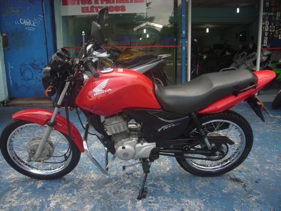 Honda Cg 125 Fan Ks Ano 2013 Vermelha Troca Financia