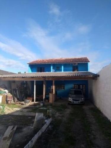 Imagem 1 de 14 de Lindo Sobrado No Litoral, Com 2 Dormitórios Em Itanhaém/sp