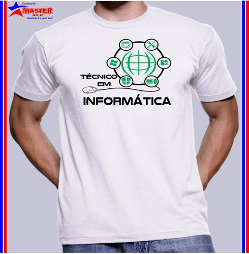 Imagem 1 de 1 de Camisa Camiseta Técnico Em Manutenção Suporte Em Informática