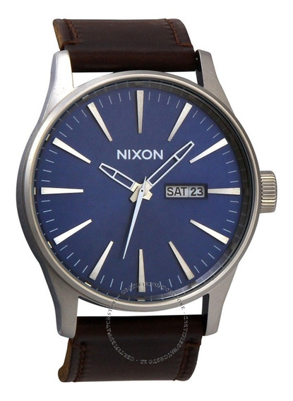 Reloj Nixon Hombre Azul The Sentry Leather Azul A1051524