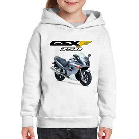 Moletom Infantil Moto Suzuki Gsx 750 F Katana Prata