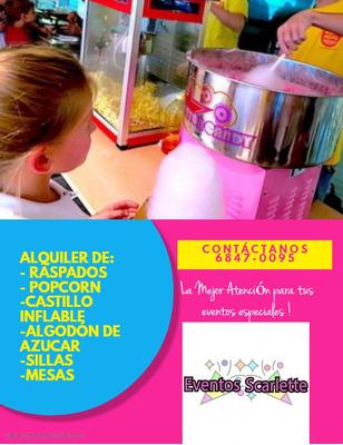 Alquiler De Brinca Brinca, Algodon,popco Llamar Al 6847 0095