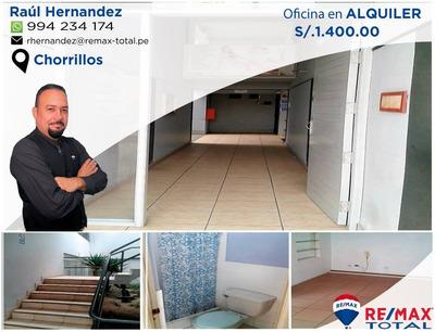 Excelente Oficina En Alquiler Alameda Los Cedros, Chorrillos