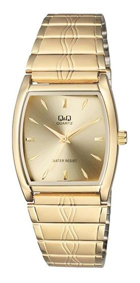Relógio Q&q Unissex Dourado Qa92010y