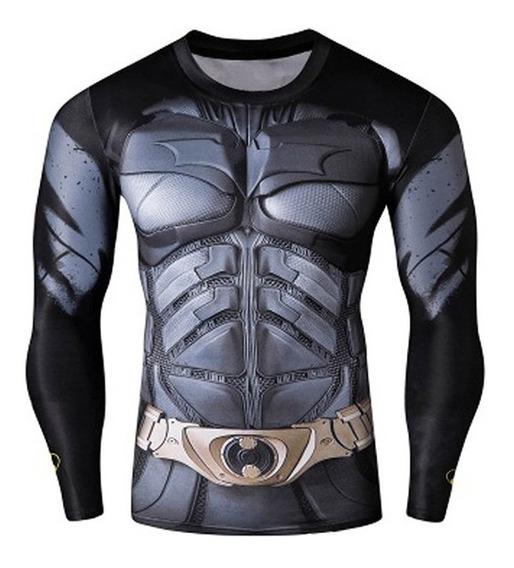 Camiseta Batman Superman Marvel T-shirt De Secado Rápido