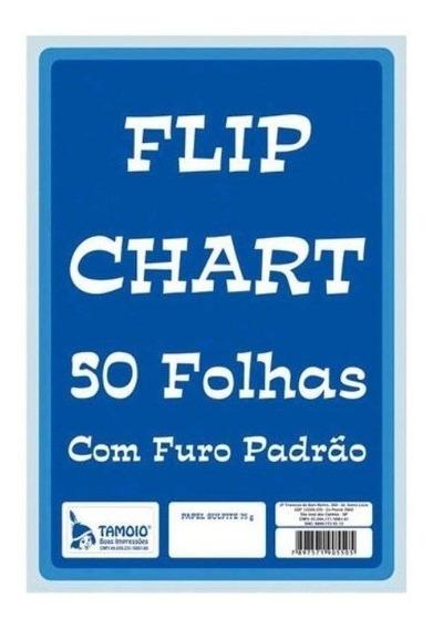 Papel Para Flip Chart 50 Fls Tamoio C/ Furacao Padrao