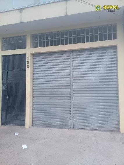 Salão Para Alugar, 80 M² Por R$ 1.200/mês - Parque Savoi City - São Paulo/sp - Sl0090