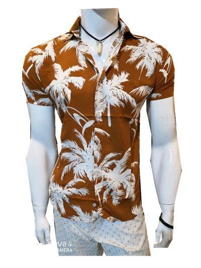 Camisa Masculino Floral Estampa Florida Viscose 2019