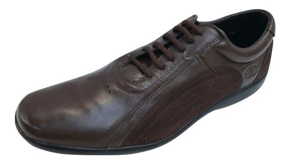 Zapato Casual Choclo Office Comfort Hombre Cafe Piel Venado